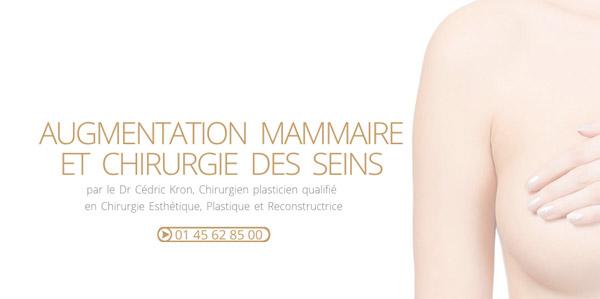 Rubrique d�di�e � l'augmentation mammaire et la chirurgie des seins � Paris